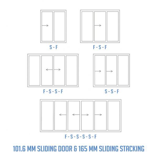 sliding stacking door